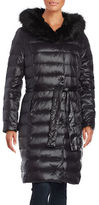 Ivanka Trump Faux Fur Trimmed Long Down Puffer Coat