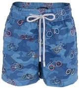 Zeybra Blue Camo Bicycle Swim Shorts