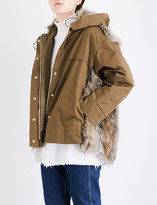 Stella McCartney Hannah cotton-twill and faux-fur parka jacket