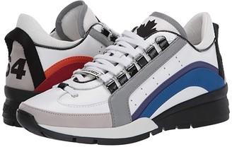 DSQUARED2 551 Rainbow Sneaker (White/Multi) Men's Shoes