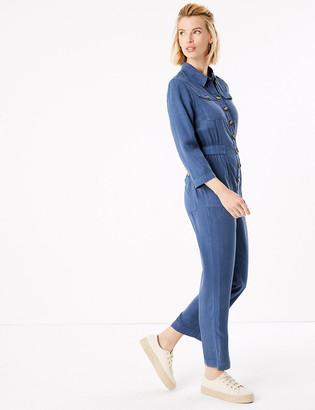 Marks and Spencer Denim Long Sleeve Jumpsuit
