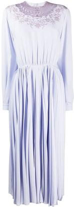 Giambattista Valli Lace-Trimmed Crepe Midi Dress