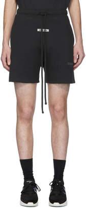 Essentials Black Fleece Shorts
