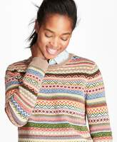 Brooks Brothers Merino Wool-Blend Fair Isle Sweater