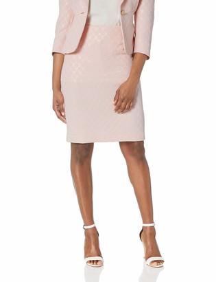 Kasper Women's Petite Metallic DOT Jacquard Skirt