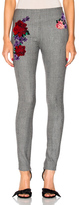 La Perla Prince of Wales Legging Pant in Gray,Checkered & Plaid,Floral.