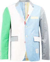 Thom Browne colour block blazer - men - Cotton - 1