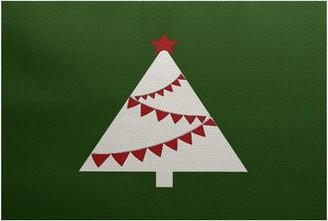 The Holiday Aisleâ® Christmass Tree Flatweave Green Rug The Holiday AisleA Rug Size: Rectangle 2' x 3'