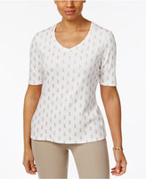 Karen Scott Pineapple-Print Top, Only at Macy's