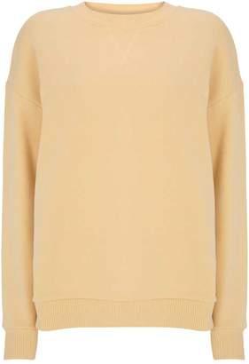 Mint Velvet Yellow Cotton Sweatshirt