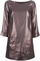 Marc Jacobs lamé houndstooth shift dress