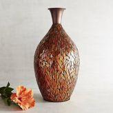 Pier 1 Imports Orange Mosaic Vase