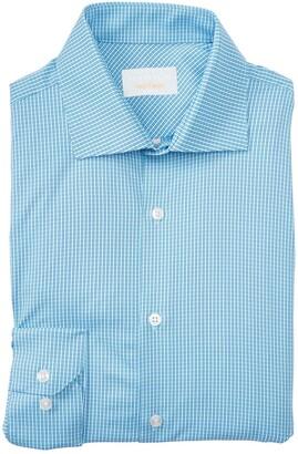 Perry Ellis Check Print Long Sleeve Slim Fit Shirt