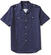 Murano Short-Sleeve Slim-Fit Flamingo Camp Woven Shirt