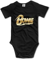 GLMIHOF Baby Boys' Bowie Lightning Gold Logo Romper Jumpsuit Bodysuit Outfits