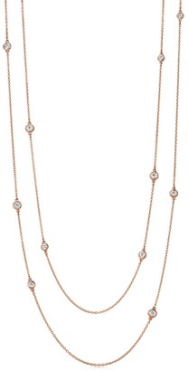 Tiffany & Co. Elsa Peretti Diamonds by the Yard sprinkle necklace in 18k rose gold