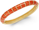 Charter Club Erwin Pearl Atelier for Gold-Tone Striped Hinged Bangle Bracelet, Only at Macy's