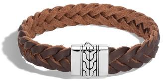 John Hardy Classic Chain Silver & Leather Cord Bracelet