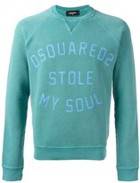 DSQUARED2 Stole My Soul sweatshirt - men - Cotton/Spandex/Elastane - L