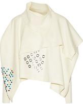 J.W.Anderson Asymmetric Draped Embellished Boiled Wool Top