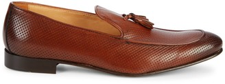 Saks Fifth Avenue Made In Italy Perforated Leather Tassel Loafers