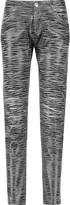 Pierre Balmain Printed coated skinny jeans
