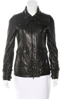 Diane von Furstenberg Long Sleeve Leather Jacket