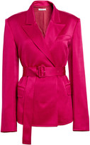 ADEAM Satin Tailored Belted Blazer