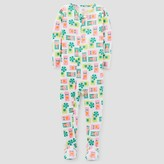 Just One You made by carter Toddler Girls' One Piece Snug Fit Cotton Footed Pajama - Just One You Made by Carter's® Green/Orange