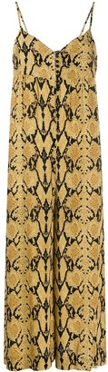 BA&SH Clever snakeskin-print jumpsuit
