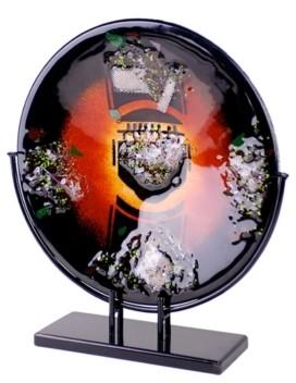 "Jasmine Art Glass 15"" Round Platter"