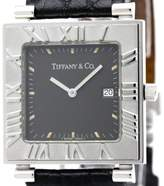 Tiffany & Co. Atlas Stainless Steel / Leather Quartz 29mm Mens Watch