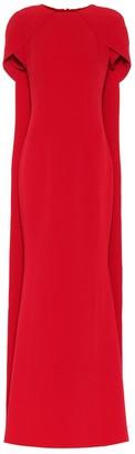 Safiyaa Ginkgo crApe cape gown