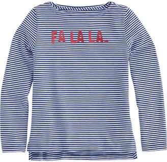 Vineyard Vines Girls' FALALA Glitter Long-Sleeve Tee