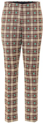 Dries Van Noten Plaid cotton pants