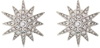 Kenneth Jay Lane Starburst silver-tone crystal clip earrings