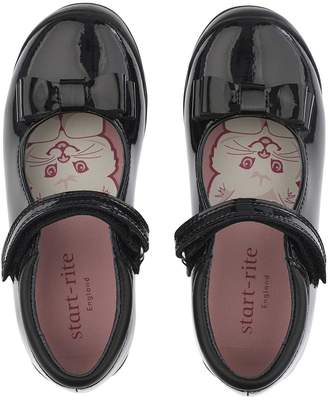 Start Rite Start-rite Girls Pussycat Bow School Shoes - Black