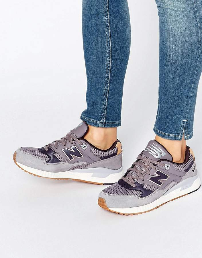 New Balance 530 Grey Sneakers With Gum Sole