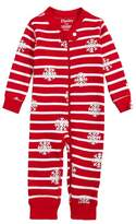 Hatley Candy Cane Waffle Knit Organic Cotton Fitted One-Piece Pajamas
