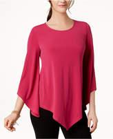 Alfani 3/4-Sleeve Asymmetrical Top, Created for Macy's