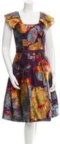 Carolina Herrera Patterned A-Line Dress