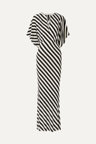 Norma Kamali Striped Stretch-jersey Maxi Dress
