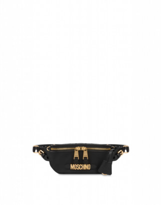 Moschino Waist Bag With Lettering Logo Woman Black Size U It - (one Size Us)