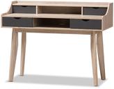 Baxton Studio Fella Modern Four-Drawer Study Desk