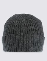 Marks and Spencer Pure Cotton Knitted Beanie Hat with StayNEWTM