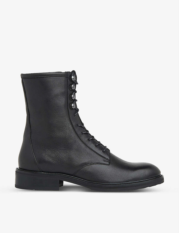 Whistles Asha lace-up heeled leather boots