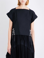 3.1 Phillip Lim Faux-pearl chained cotton top
