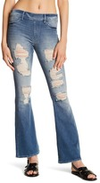 True Religion Runway Destroyed Denim Flare Legging