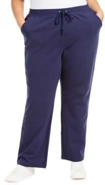 Karen Scott Plus Size French Terry Pants, Created for Macy's