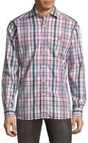 Psycho Bunny Plaid Cotton Button-Down Shirt